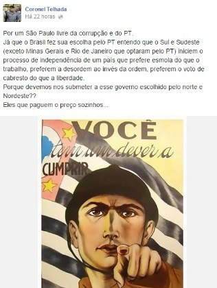 Herr Post Reproduktion gewählt Oberst Tiled (PSDB) Das erzeugte Kontroverse